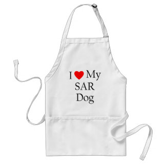 Amo mi perro del SAR Delantales