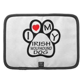 Amo mi perro del Wolfhound irlandés Planificadores