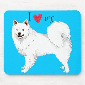 Amo mi perro esquimal americano alfombrillas de raton