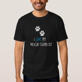 Amo mi perro esquimal americano camisas