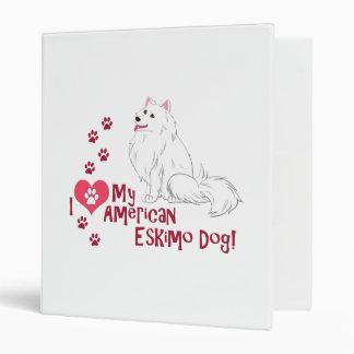 "¡Amo mi perro esquimal americano! Carpeta 1"""