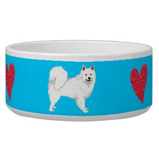 Amo mi perro esquimal americano comedero para mascota