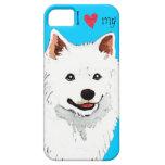Amo mi perro esquimal americano iPhone 5 Case-Mate fundas