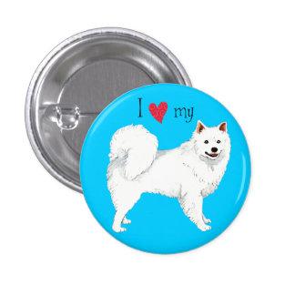 Amo mi perro esquimal americano pin redondo 2,5 cm