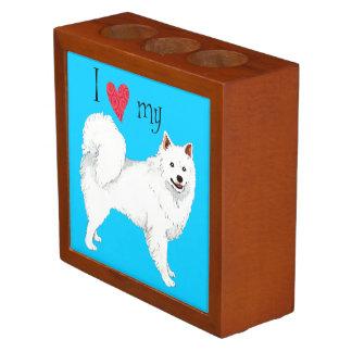 Amo mi perro esquimal americano portalápices
