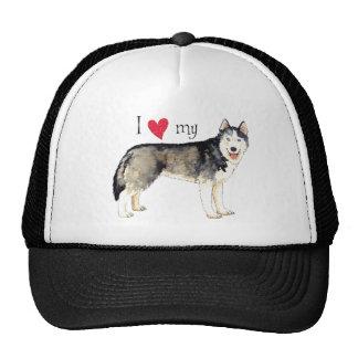 Amo mi perro esquimal gorra