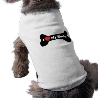 Amo mi perro esquimal - hueso de perro playera sin mangas para perro