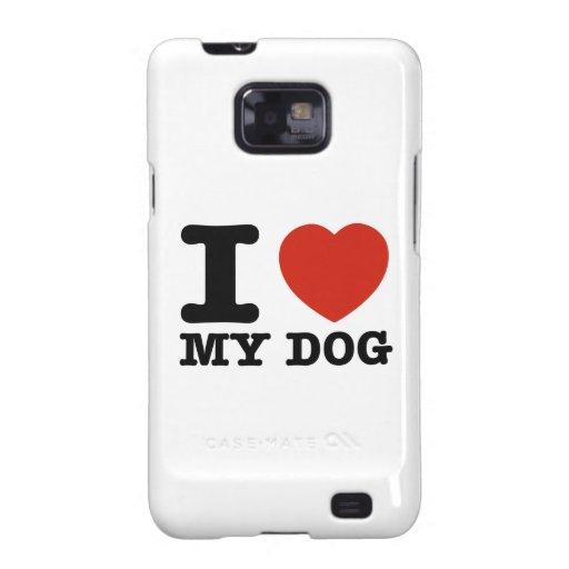 Amo mi perro galaxy s2 carcasas