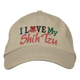Amo mi perro gorras de béisbol bordadas