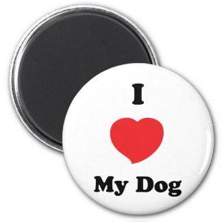 AMO mi perro Imán Redondo 5 Cm