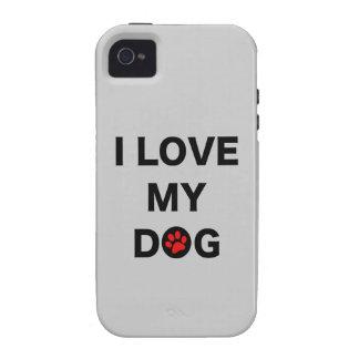 Amo mi perro iPhone 4 carcasas