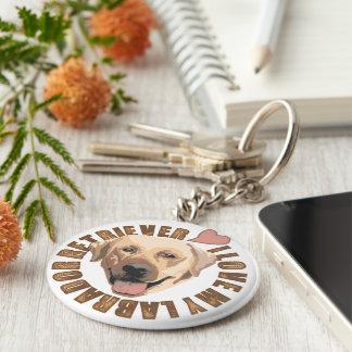 Amo mi perro - labrador retriever llavero redondo tipo pin
