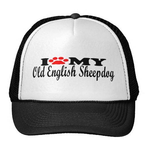 Amo mi perro pastor inglés viejo gorro