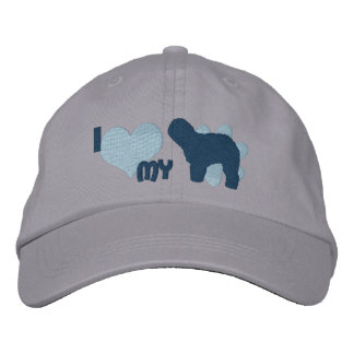 Amo mi perro pastor inglés viejo gorra de beisbol