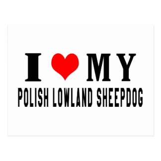 Amo mi perro pastor polaco de la tierra baja postal