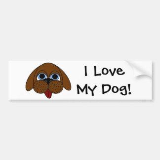¡Amo mi perro! Pegatina para el parachoques Pegatina Para Auto