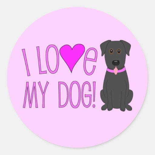 ¡Amo mi perro! Pegatinas