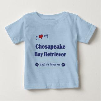 Amo mi perro perdiguero de bahía de Chesapeake (el Playera De Bebé