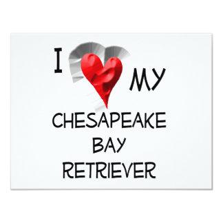 Amo mi perro perdiguero de bahía de Chesapeake Comunicado