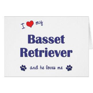 Amo mi perro perdiguero del afloramiento el perro tarjeta