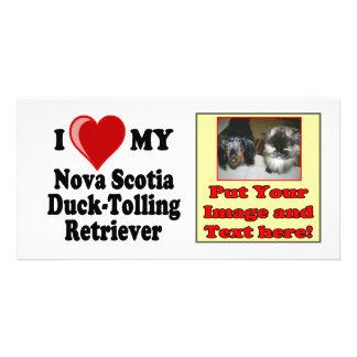 Amo mi perro perdiguero Pato-Tocante de Nueva Esco Tarjeta Personal