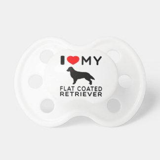 Amo mi perro perdiguero Plano-Revestido Chupetes De Bebe