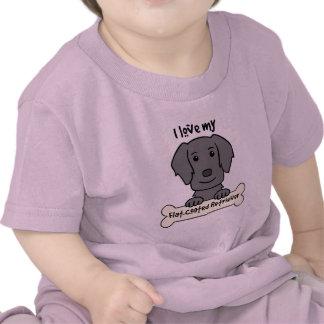 Amo mi perro perdiguero Plano-Revestido Camiseta