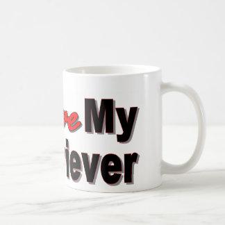 Amo mi perro perdiguero taza de café