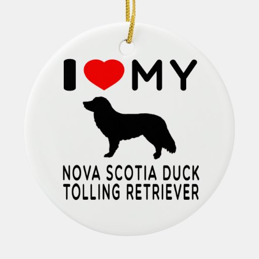 Amo mi perro perdiguero tocante del pato de Nueva  Ornamento De Navidad
