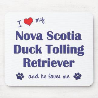 Amo mi perro perdiguero tocante del pato de Nueva  Alfombrilla De Ratones