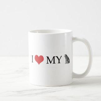 Amo mi perro taza de café