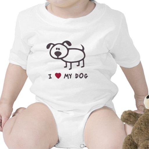 Amo mi perro trajes de bebé