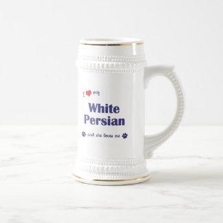 Amo mi persa blanco (el gato femenino) tazas