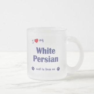 Amo mi persa blanco (el gato masculino) taza