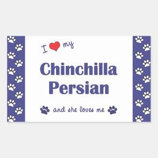 Amo mi persa de la chinchilla (el gato femenino) rectangular altavoz