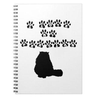 Amo mi persa--Texto negro Note Book