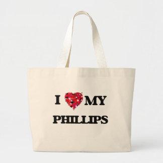 Amo MI Phillips Bolsa Tela Grande