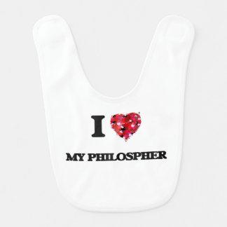Amo mi Philospher Baberos De Bebé