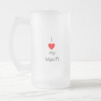 Amo mi pi maxi taza de cristal