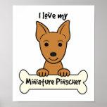 Amo mi Pinscher miniatura Poster