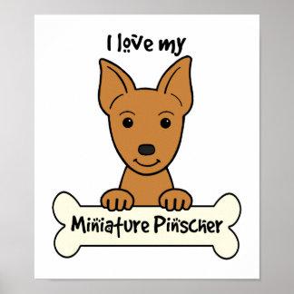 Amo mi Pinscher miniatura Póster