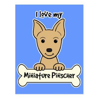 Amo mi Pinscher miniatura Postal
