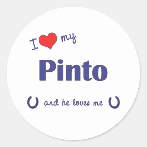 Amo mi Pinto (el caballo masculino) Pegatina Redonda