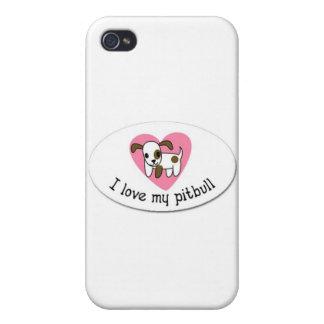 Amo mi pitbull iPhone 4 carcasa