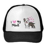 Amo mi Pitbull/Staffordshire Terrier americano Gorras De Camionero