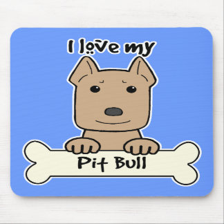 Amo mi Pitbull Tapetes De Ratones