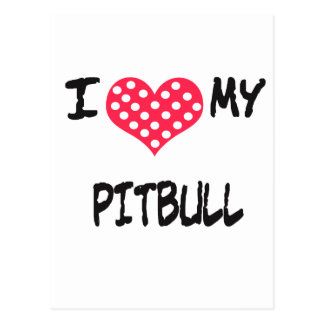 Amo mi Pitbull Tarjeta Postal