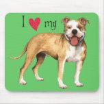 Amo mi pitbull Terrier americano Tapete De Raton