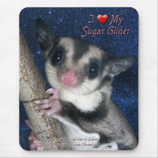 Amo mi planeador del azúcar - la serie más linda tapete de ratón