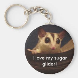¡Amo mi planeador del azúcar! llavero